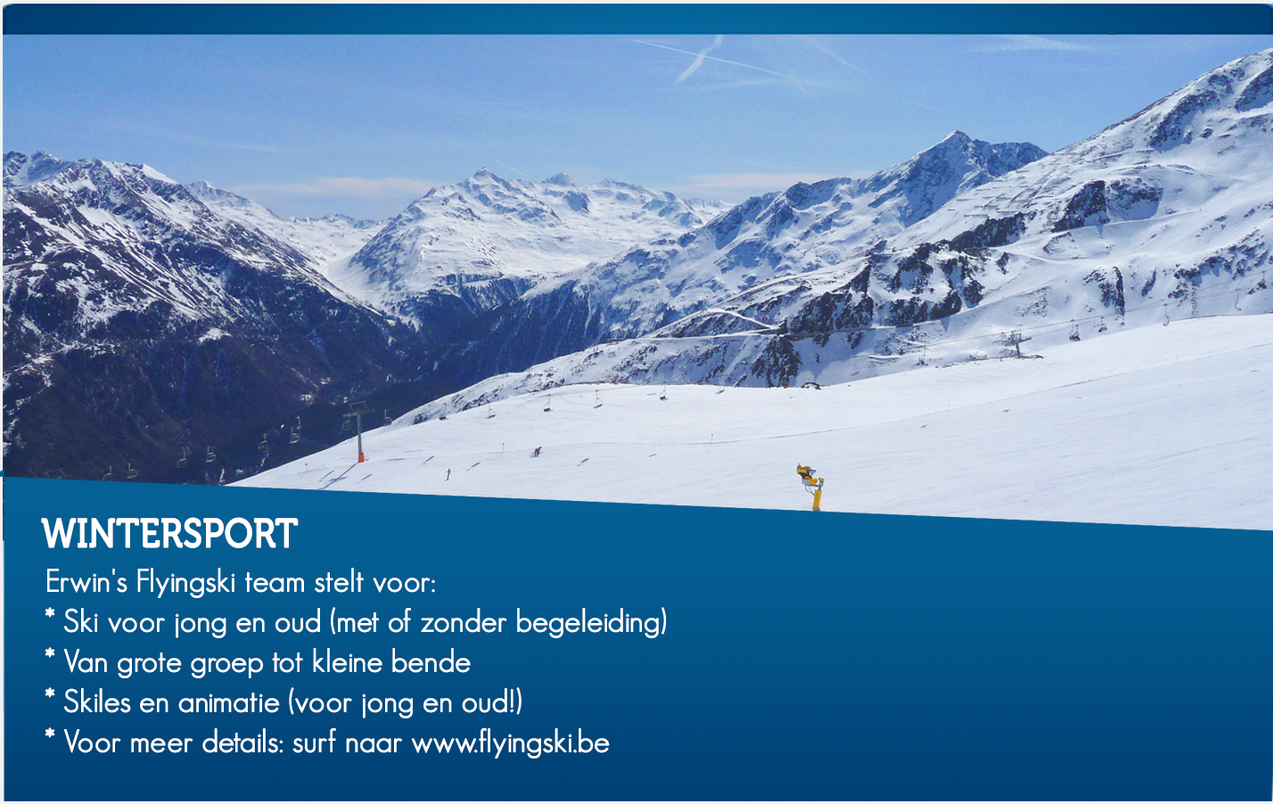 Wintersport Flyingski